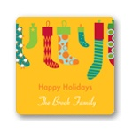 Hang the Christmas Stockings -- Christmas Gift Stickers