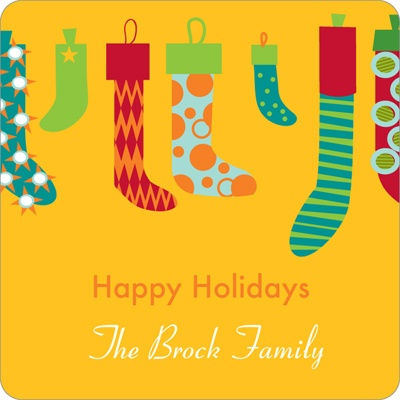 Hang the Christmas Stockings Personalized Stickers