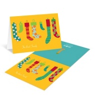 Hang the Christmas Stockings Christmas Thank You Cards