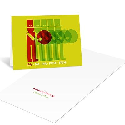 Drummer Boy Line Up Christmas Cards