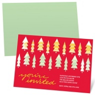 Stylish Christmas Trees - Christmas Dinner Party Invitations