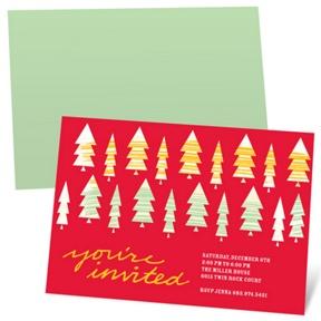 Stylish Christmas Trees -- Holiday Party Invitations