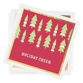 Stylish Christmas Trees Napkins -- Party Decorations