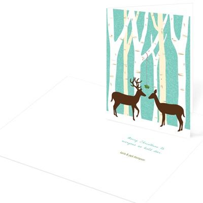 Frolicking Deer Christmas Cards