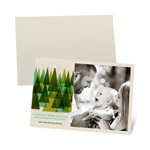 Modern Christmas Trees -- Recycled Photo Christmas Cards