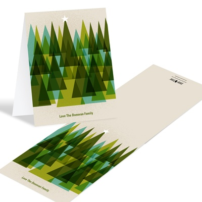 Modern Christmas Trees -- Holiday Thank You Cards