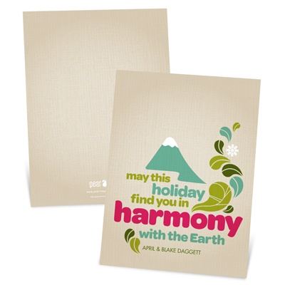 Perfect Harmony -- Recycled Paper Christmas Cards