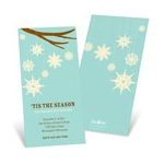 Whimsical Snowflakes in Aqua -- Custom Holiday Greeting Cards