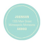 Whimsical Snowflakes -- Round Christmas Address Labels
