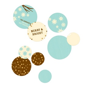 Whimsical Snowflakes Table Decor -- Party Decorations