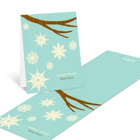 Whimsical Snowflakes -- Christmas Thank You Cards