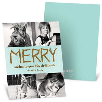 Merry Branches Photo Christmas Cards