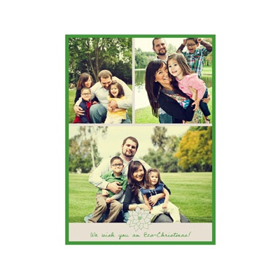 Photo Paper Poinsettia Connection Photo Christmas Cards