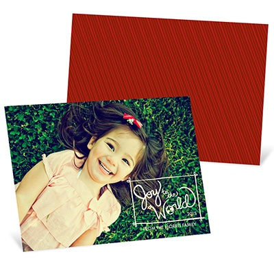 Trendy and Joyful -- Recycled Photo Christmas Cards