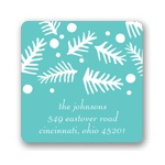 Falling Needles -- Christmas Address Labels
