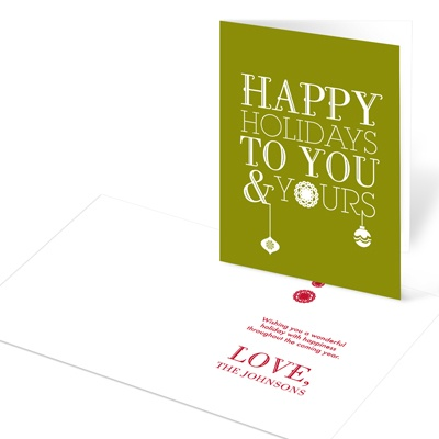 Dangling Style -- Personalized Christmas Cards