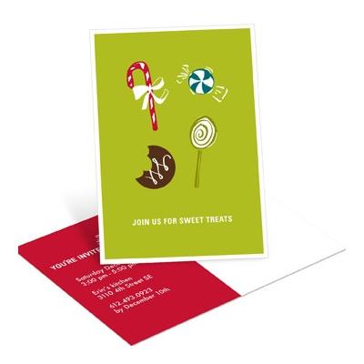 Sweet Treats Postcard Holiday Party Invitations