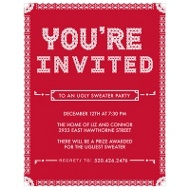 Particular Pattern Holiday Party Invitations