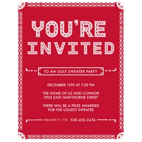 Particular Pattern -- Holiday Party Invitations
