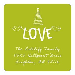 Fun Strung Love -- Christmas Address Labels