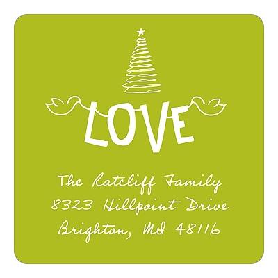 Fun Strung Love Christmas Address Labels