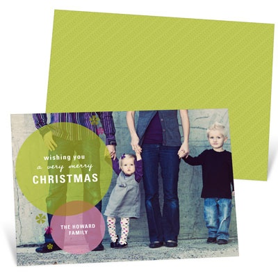 Stylish and Flashy Photo Christmas Cards