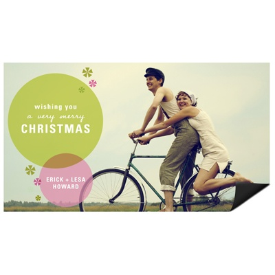 Stylish and Flashy Magnet Photo Christmas Cards