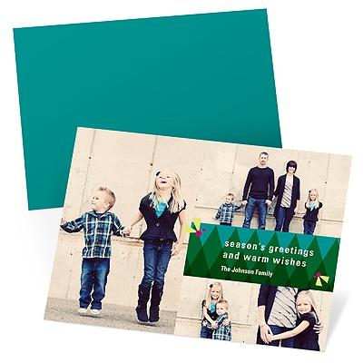 Geometric Fun Holiday Photo Cards