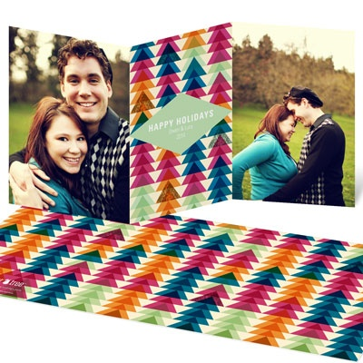 Swanky Trees Holiday Photo Cards