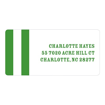 Stripes and Borders -- Classic Address Labels