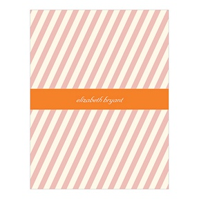 Angled Effect Stripes -- Personalized Thank You Cards