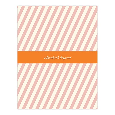 Angled Effect Stripes Personalized Thank You Cards