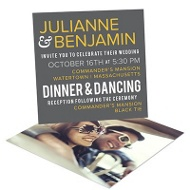 Modern Message Wedding Invitations