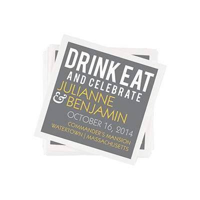 Modern Message -- Custom Printed Napkins
