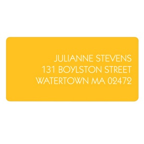 Modern Message -- Wedding Address Label