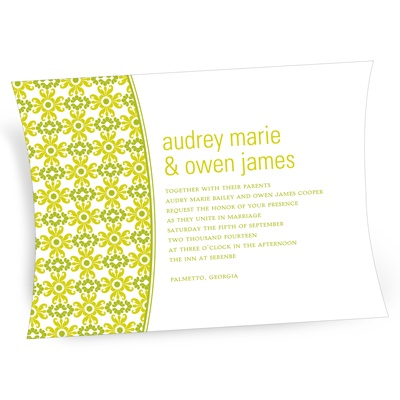 Vibrant Pattern -- Vintage Wedding Invitations