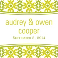 Vintage Pattern Wedding Favor Stickers