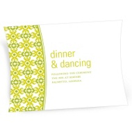 Vintage Pattern Wedding Reception Cards