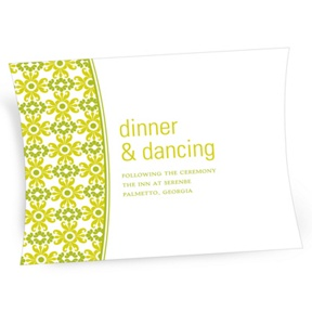 Vintage Pattern -- Wedding Reception Cards