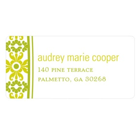 Vintage Pattern -- Wedding Return Address Labels