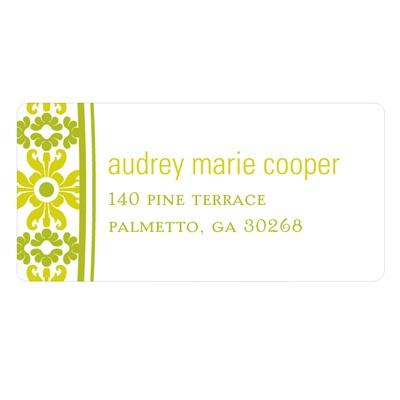 Vintage Pattern Wedding Return Address Labels