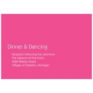 Chic Simplicity Wedding Invitation Reception Cards