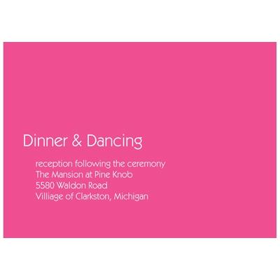 Chic Simplicity Wedding Invitation Reception Cards