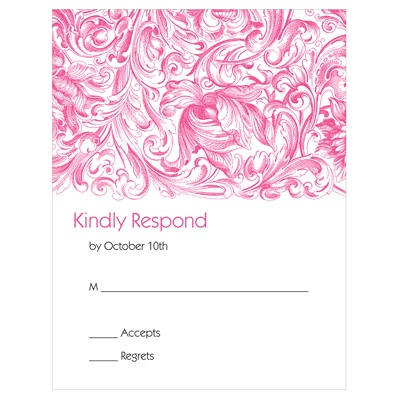 Chic Blossoms Wedding Reply Cards