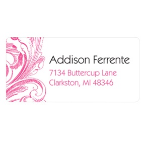 Chic Blossoms -- Personalized Wedding Address Labels