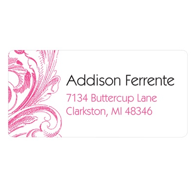 Chic Blossoms Personalized Wedding Address Labels