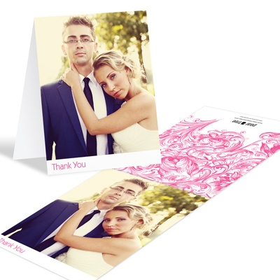Chic Blossoms -- Wedding Photo Thank You Notes