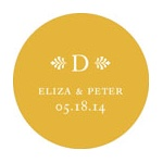 Circle the Newlyweds -- Wedding Favor Stickers