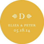 Circle the Newlyweds Wedding Favor Stickers