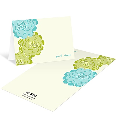 Floral Wonder -- Baby Boy Thank You Cards